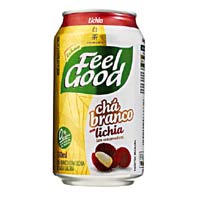 CHÁ FEEL GOOD BRANCO SABOR LICHIA LATA 330 ML