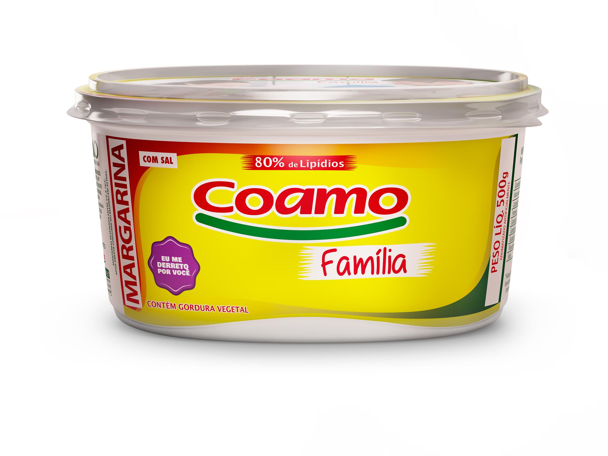 MARGARINA COM SAL 80 % FAMÍLIA COAMO 500 G