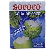 ÁGUA DE CÔCO PEQUENA SOCOCO 200 ML