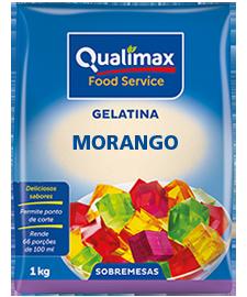 GELATINA MORANGO QUALIMAX 1 KG