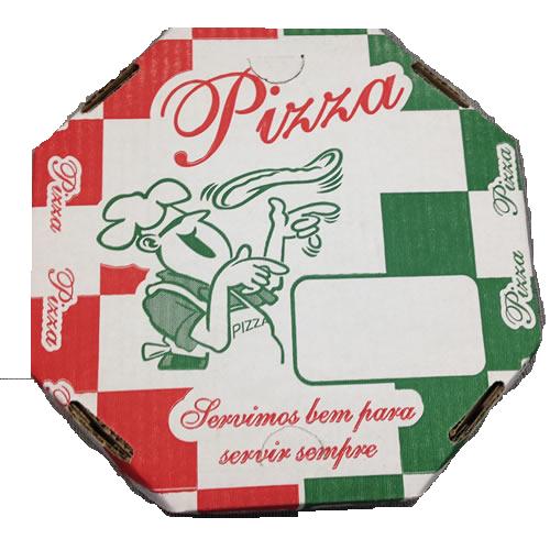 CAIXA P/ PIZZA OITAVADA 25 CM