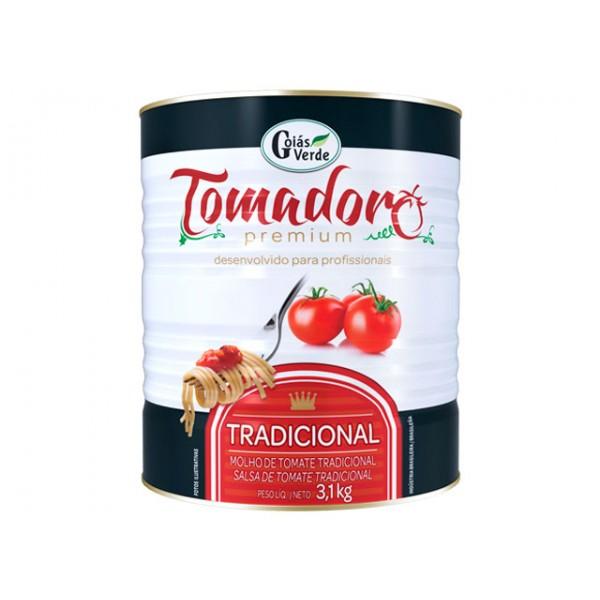 MOLHO DE TOMATE TRADICIONAL TOMADORO PREMIUM GOIÁS VERDE 3,1 KG