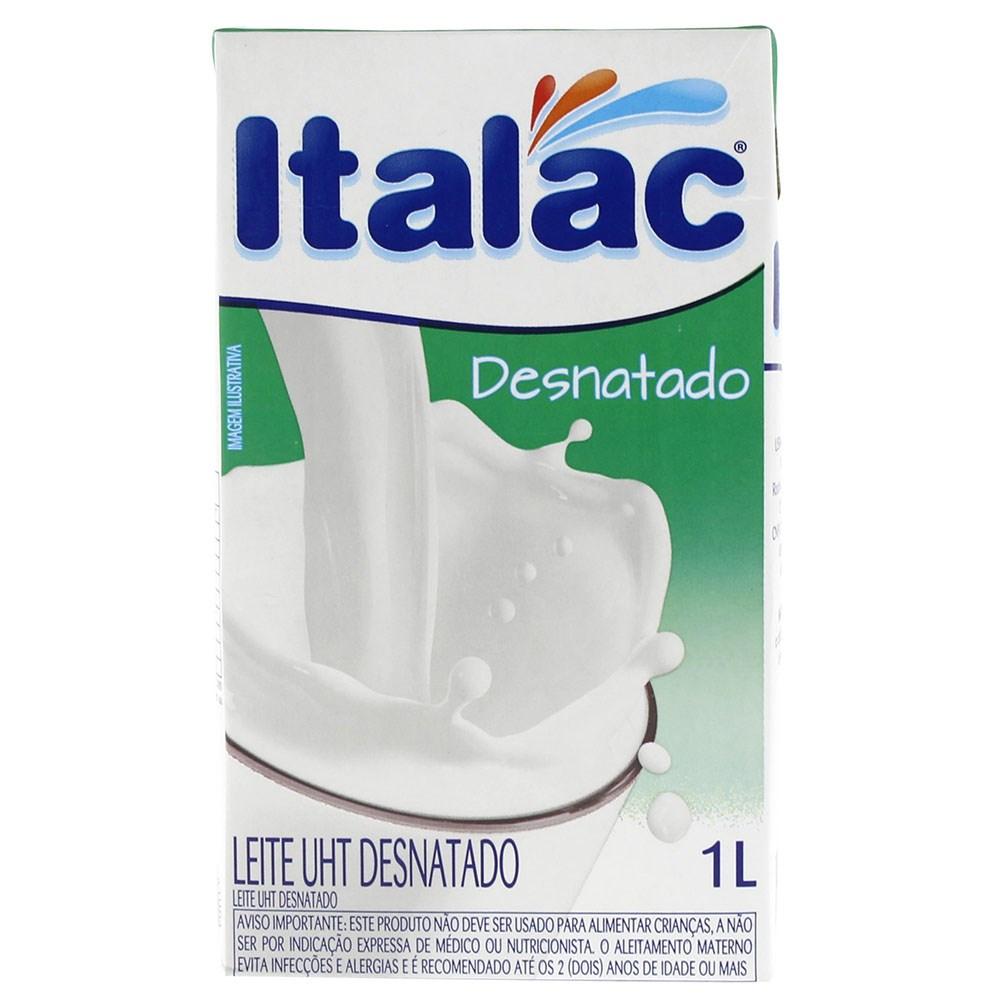 LEITE DESNATADO ITALAC 1 L