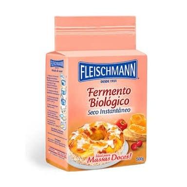 FERMENTO SECO BIOLÓGICO MASSA DOCE FLEISCHMANN 500 G