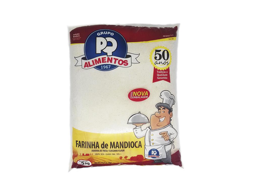 FARINHA DE MANDIOCA CRUA FINA PQ 5 KG