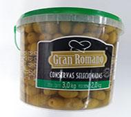AZEITONA VERDE MIÚDA GRAN ROMANO 2 KG 45 X 50