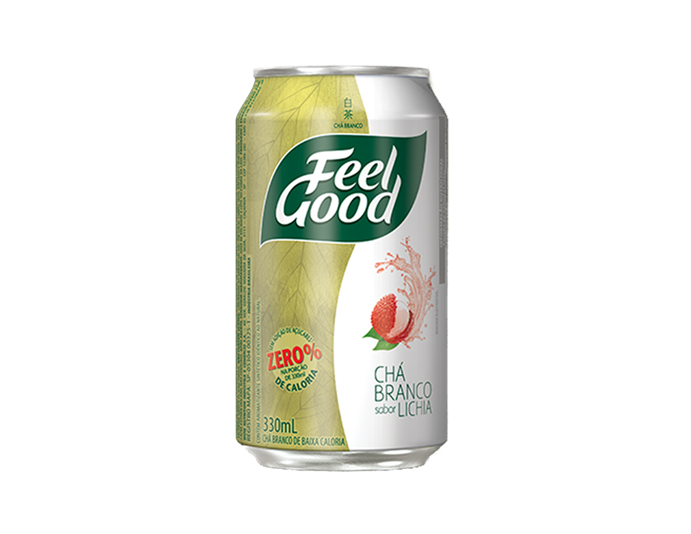CHÁ FEEL GOOD BRANCO LICHIA LATA 330 ML