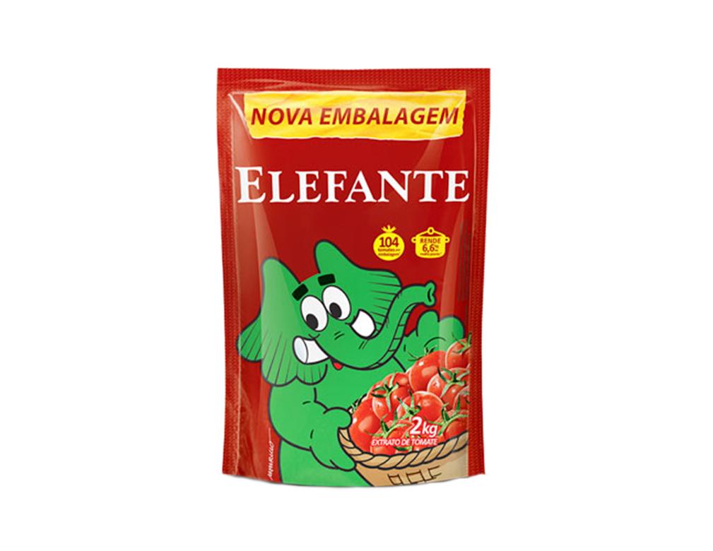 EXTRATO DE TOMATE ELEFANTE 2 KG
