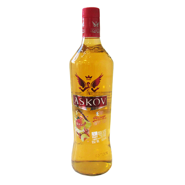 VODKA ASKOV PÊSSEGO 900 ML