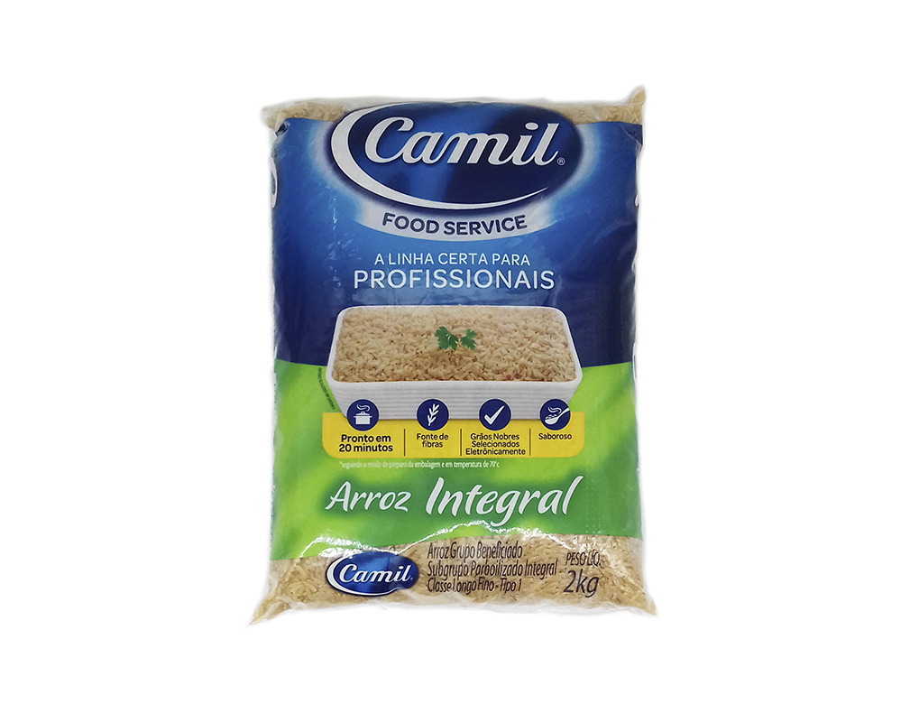 ARROZ INTEGRAL FOOD SERVICE CAMIL 2 KG