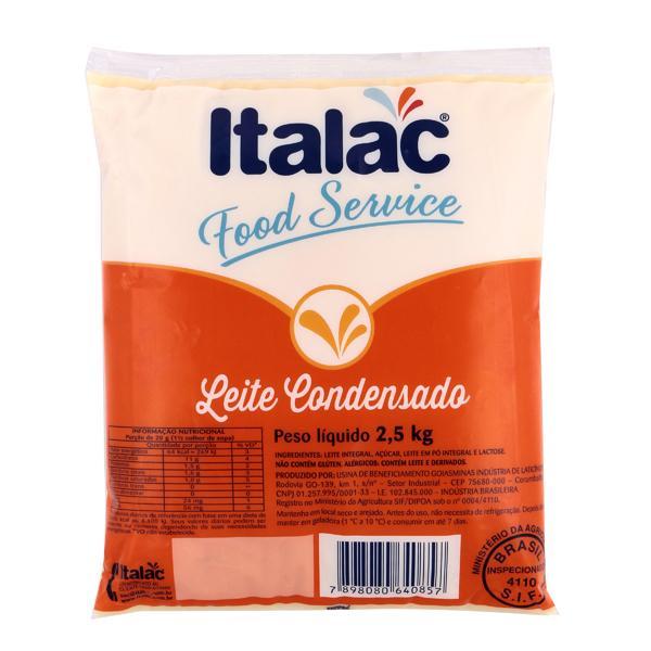 LEITE CONDENSADO SEMIDESNATADO FOOD SERVICE ITALAC 2,5 KG