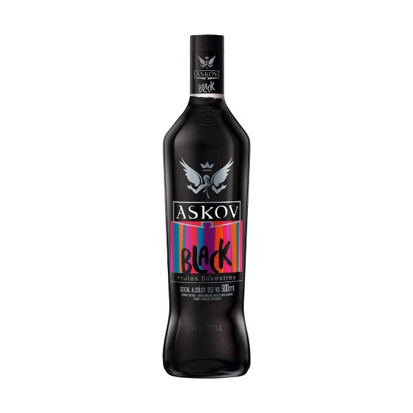 VODKA ASKOV BLACK 900 ML