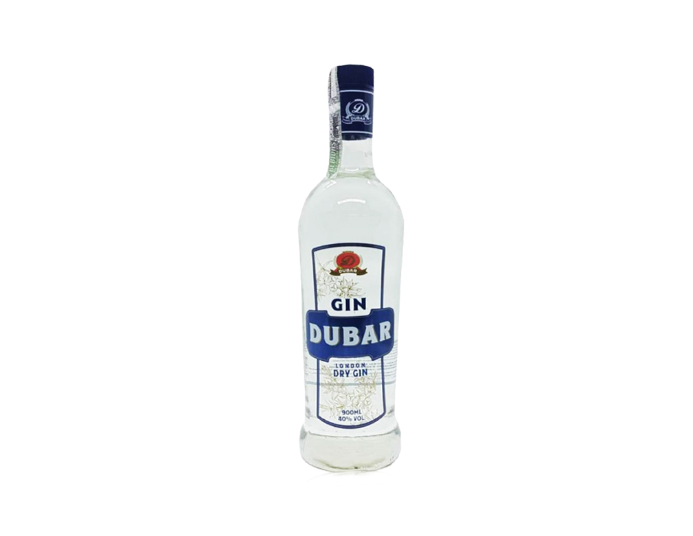 GIN LONDON DRY DUBAR 900 ML