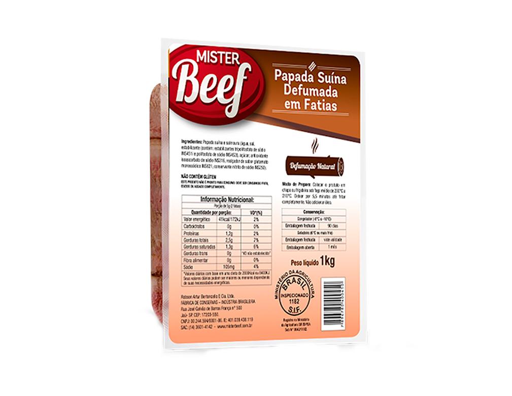 BACON FATIADO MISTER BEEF 1 KG