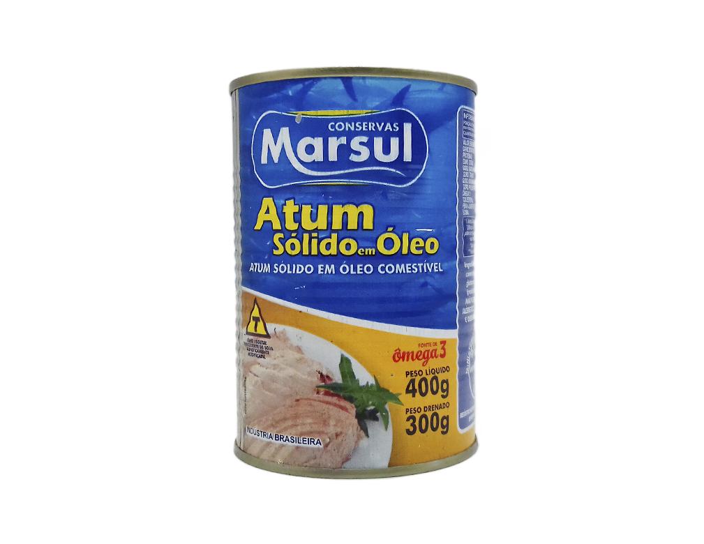 ATUM SÓLIDO EM ÓLEO MARSUL 400 G