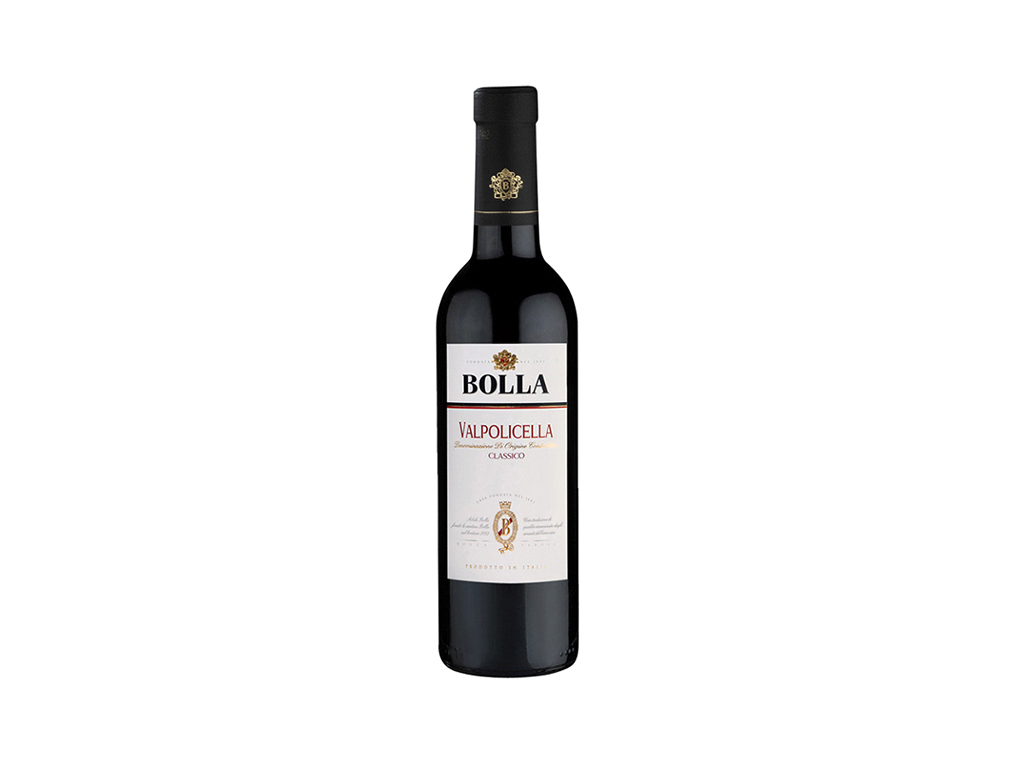 VINHO ITALIANO TINTO INTENSO E SECO VALPOLICELLA BOLLA 750 ML