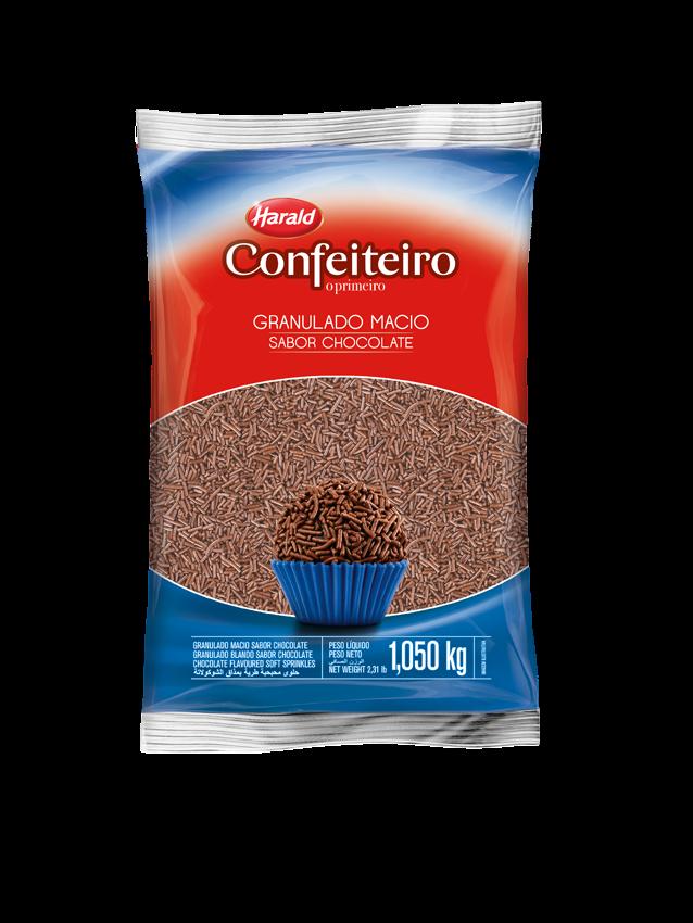 CHOCOLATE GRANULADO MACIO HARALD 1,050 KG
