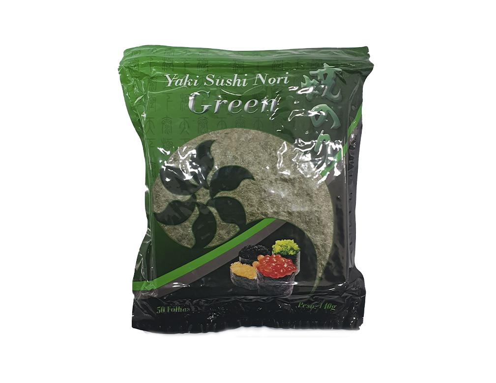 ALGA MARINHA YAKI SUSHI NORI GREEN TAICHI 140 G