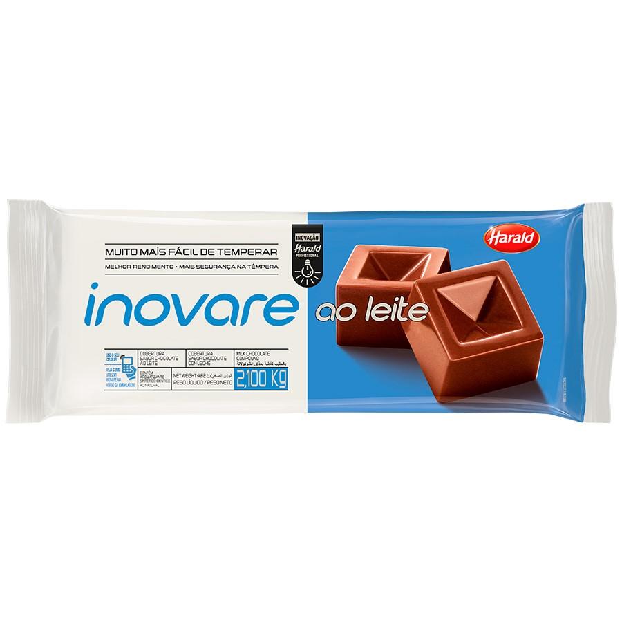 CHOCOLATE AO LEITE INOVARE HARALD 2,1 KG