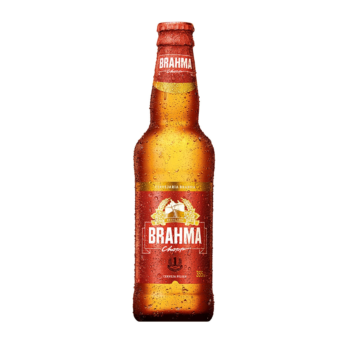 CERVEJA BRAHMA CHOPP PILSEN LONG NECK 355 ML