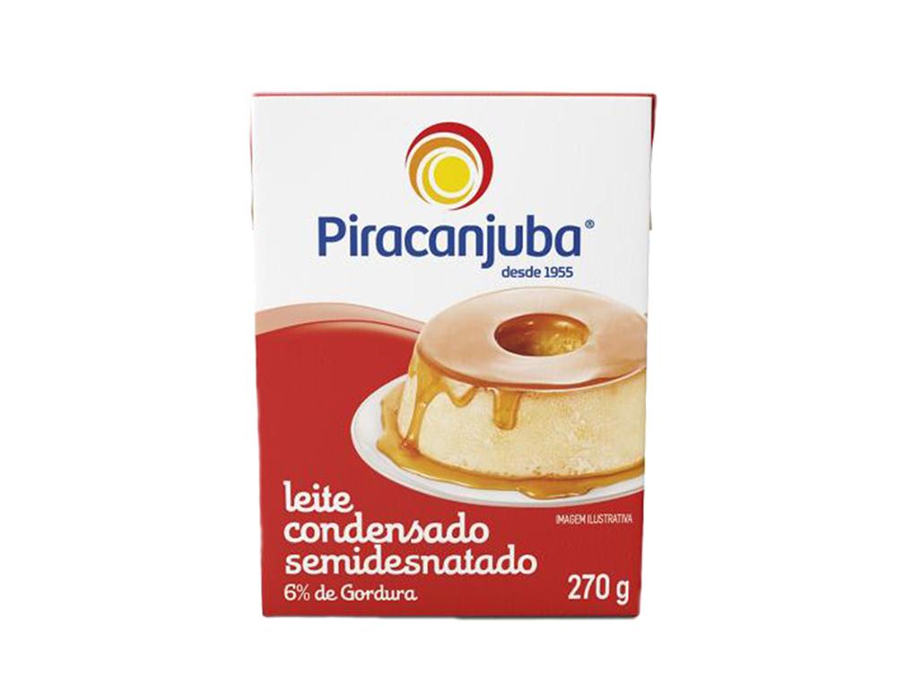 LEITE CONDENSADO SEMIDESNATADO PIRACANJUBA 270 G