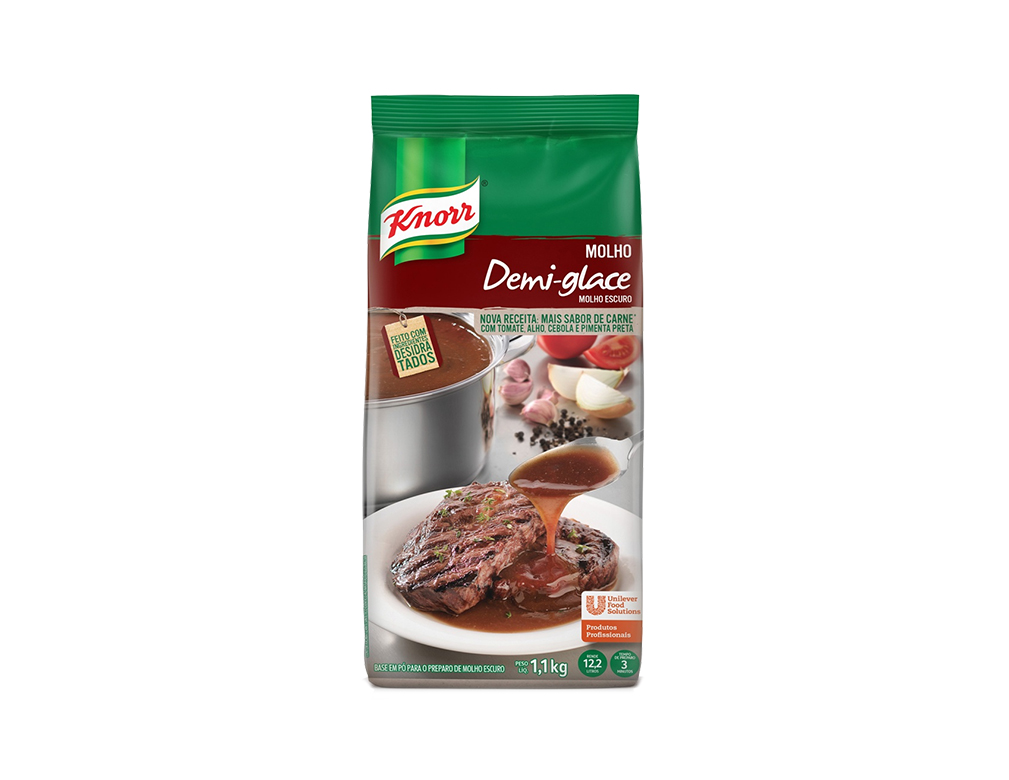 MOLHO DEMI GLACE ESCURO KNORR 1,1 KG