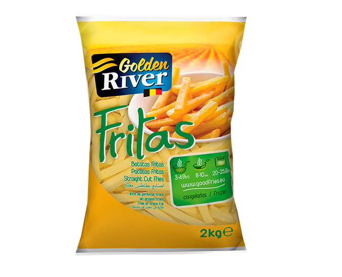 BATATA CONGELADA PALITO 10 MM GOLDEN RIVER 2 KG