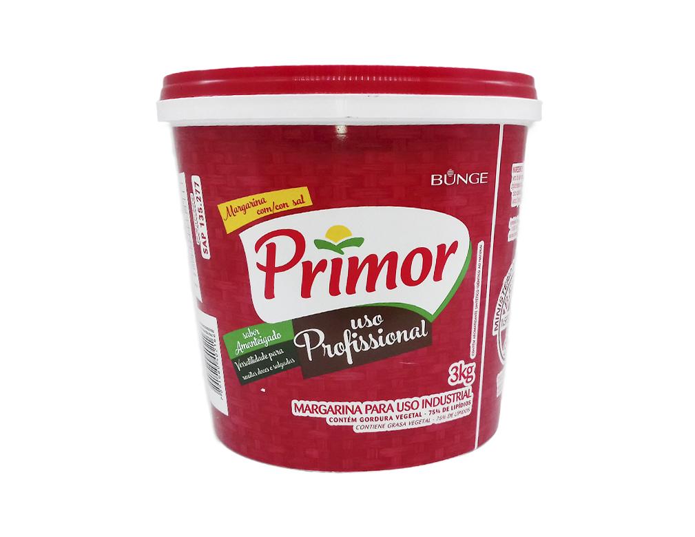 MARGARINA PEQUENA COM SAL 75 % PRIMOR 3 KG