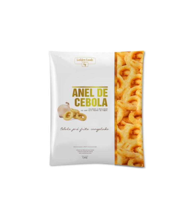 ANÉIS DE CEBOLA CONGELADO GOLDEN FOODS 1,1 KG