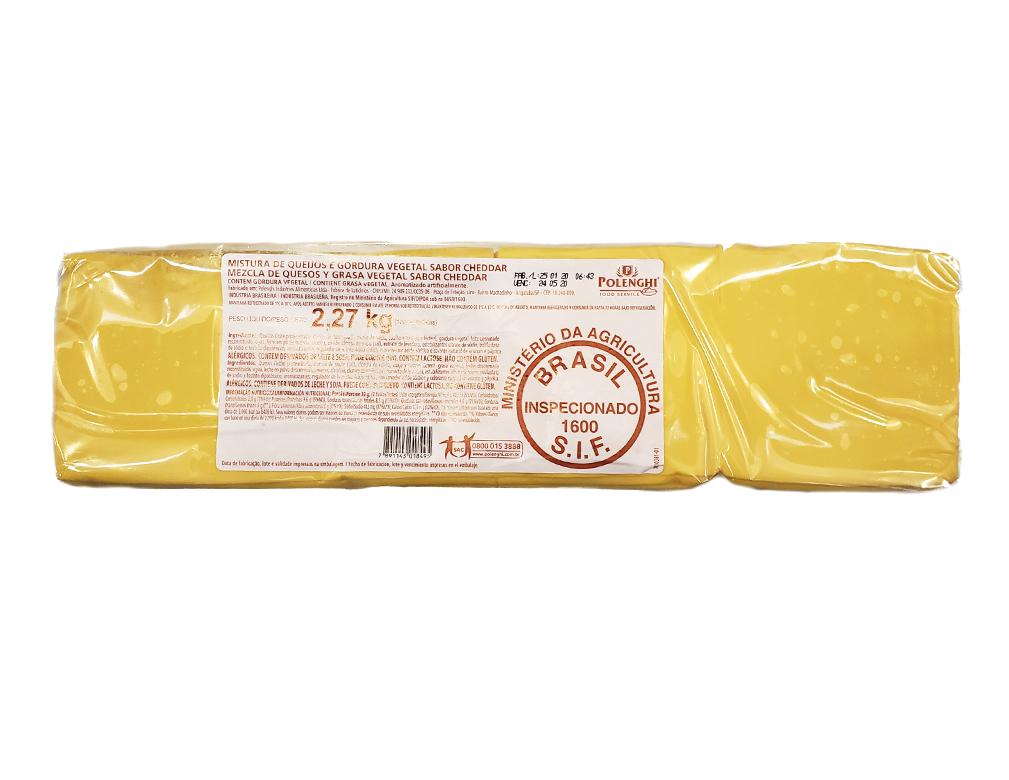 CHEDDAR FATIADO 160 FATIAS POLENGHI 2,27 KG