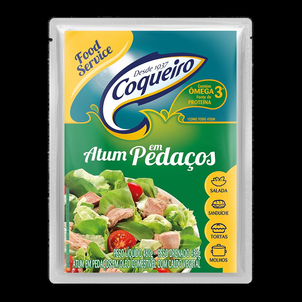 ATUM PEDAÇOS FOOD SERVICE COQUEIRO POUCH 480 G