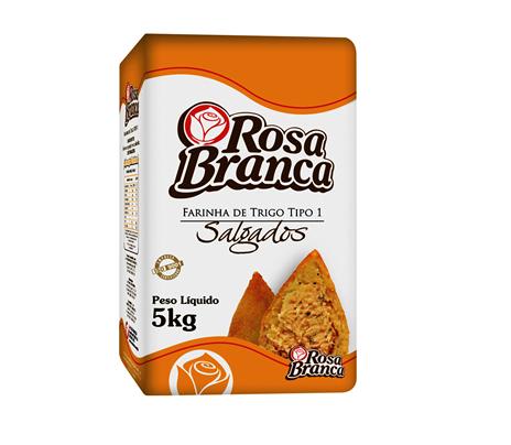 FARINHA DE TRIGO SALGADOS ROSA BRANCA 5 KG