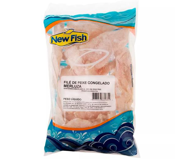 FILÉ DE MERLUZA CONGELADO NEW FISH 800 G