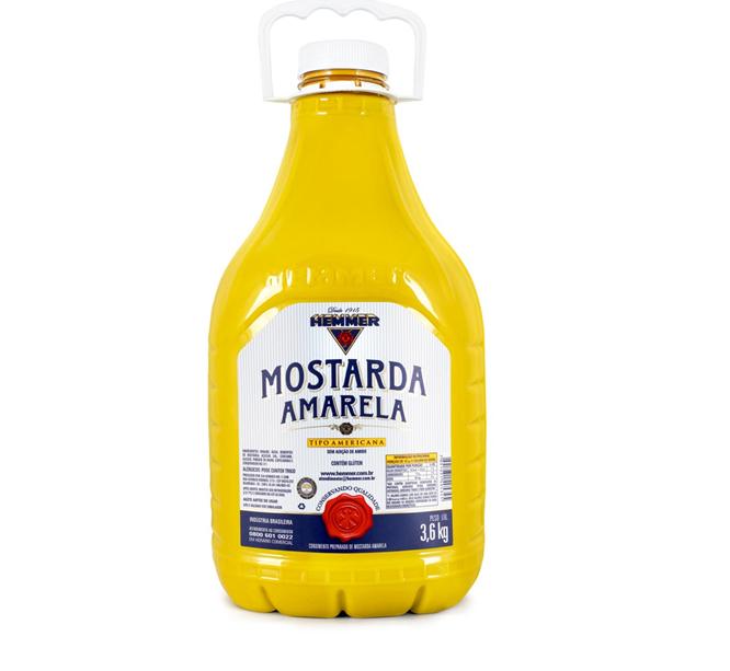 MOSTARDA GRANDE AMARELA HEMMER 3,6 KG