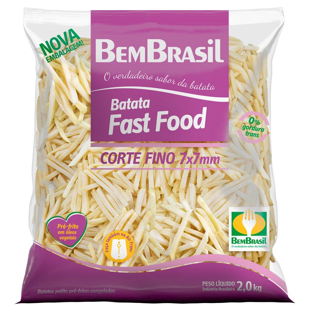BATATA CONGELADA PALITO CORTE FINO 7 MM BEM BRASIL 2 KG