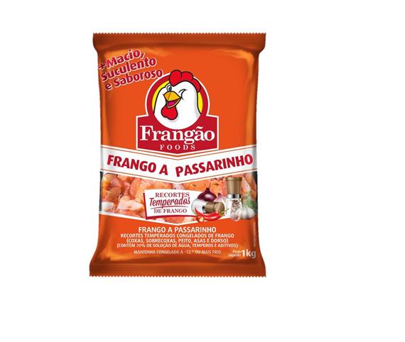FRANGO A PASSARINHO CONGELADO TEMPERADO FRANGÃO FOODS 1 KG