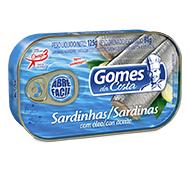 SARDINHAS COM ÓLEO GOMES DA COSTA 125 G
