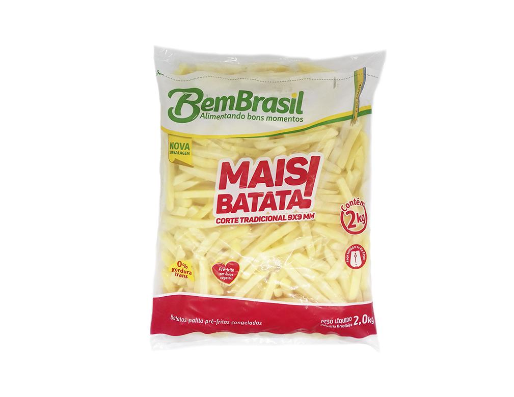 BATATA CONGELADA PALITO 9 MM MAIS BATATA BEM BRASIL 2 KG