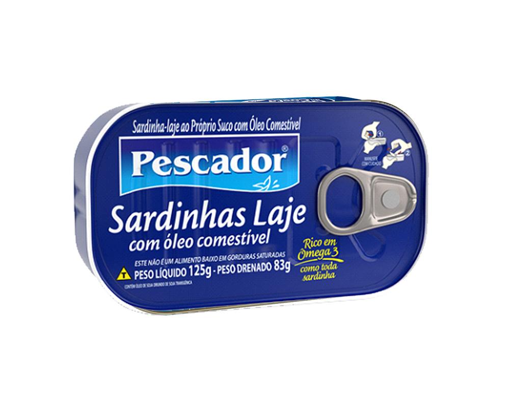 SARDINHAS EM ÓLEO LAJE PESCADOR 125 G