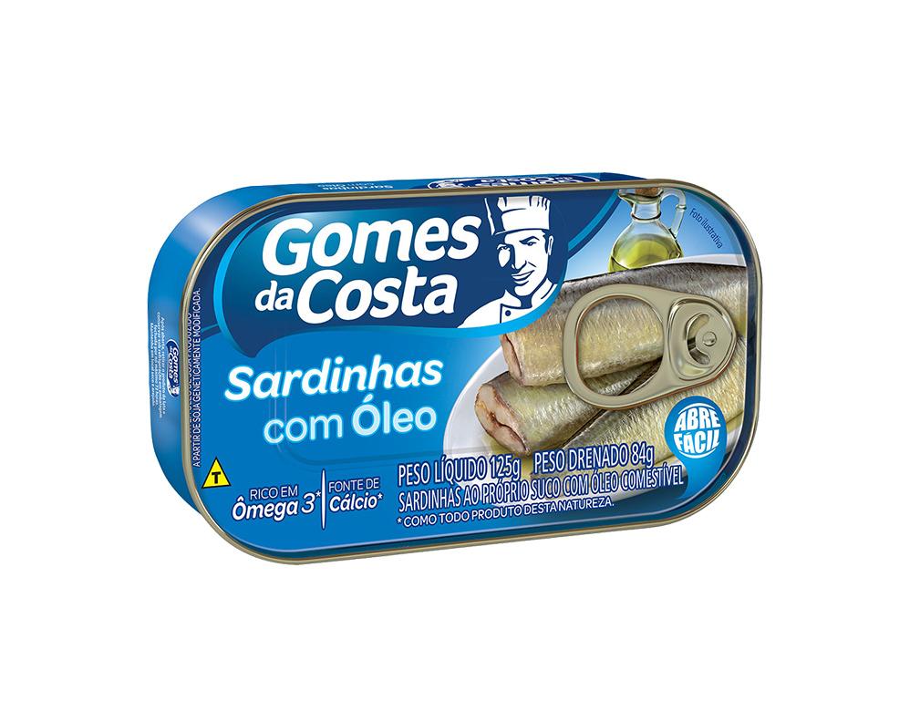 SARDINHAS EM ÓLEO GOMES DA COSTA 125 G
