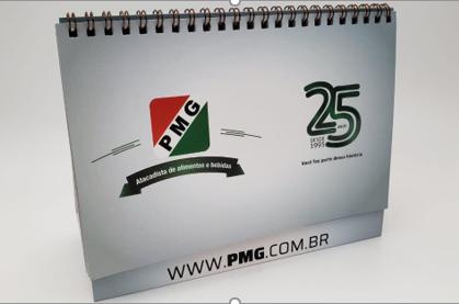 CALENDÁRIO DE MESA PMG