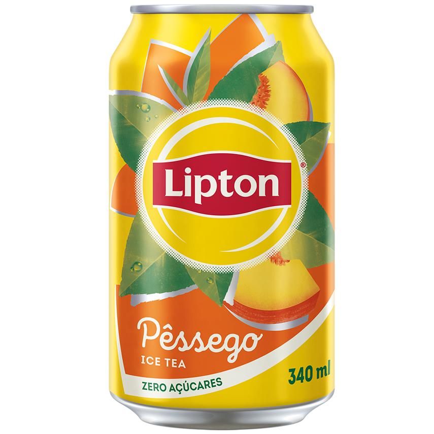 CHÁ ICE TEA LIPTON PÊSSEGO ZERO AÇÚCARES LATA 340 ML