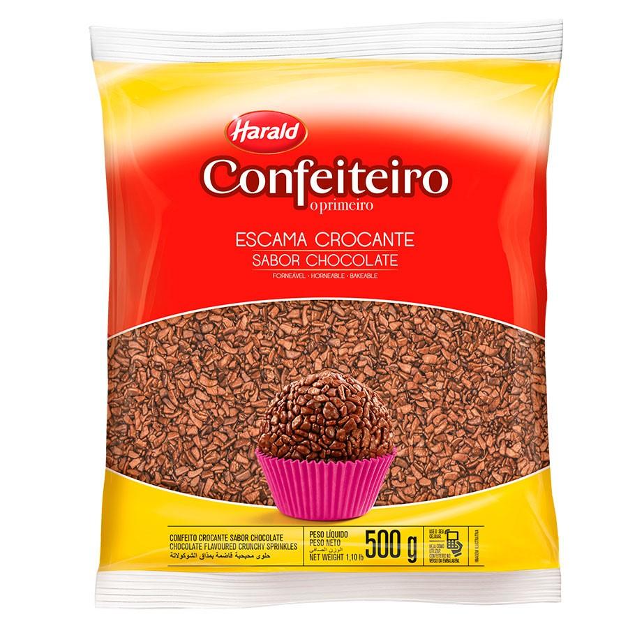 CHOCOLATE GRANULADO CROCANTE ESCAMA HARALD 500 G