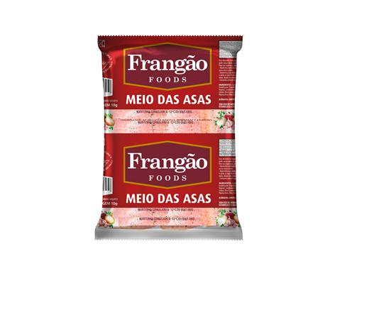 MEIO DAS ASAS DE FRANGO CONGELADAS TULIPAS TEMPERADAS FRANGÃO FOODS