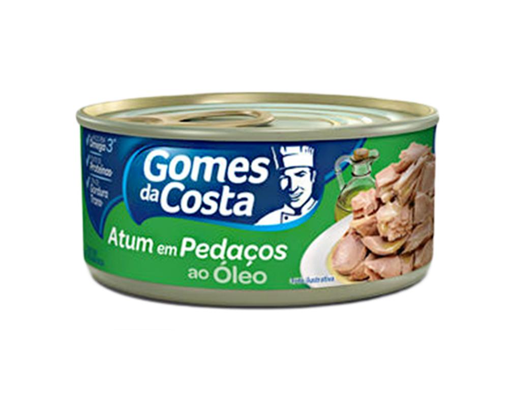 ATUM PEQUENO PEDAÇOS EM ÓLEO GOMES DA COSTA 170 G