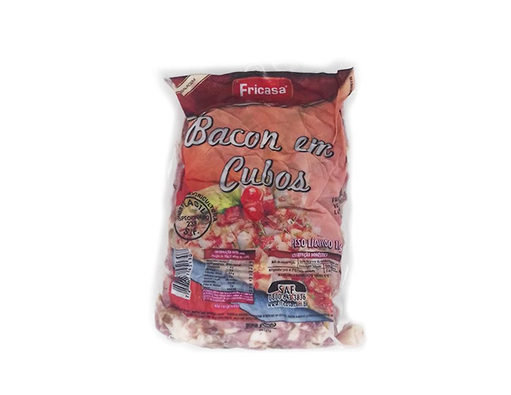 BACON EM CUBOS FRICASA 1 KG