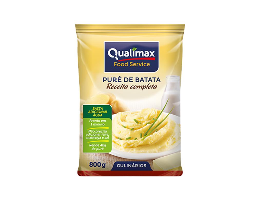 PURÊ DE BATATA RECEITA COMPLETA QUALIMAX 800 G