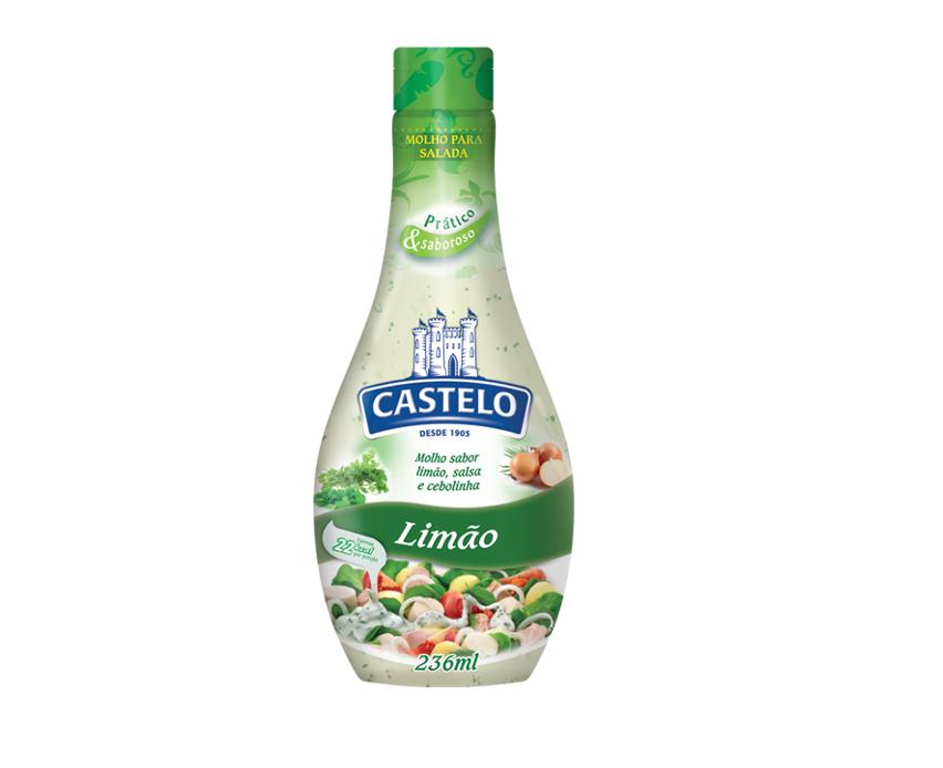 MOLHO SALADA LIMÃO CASTELO 236 ML