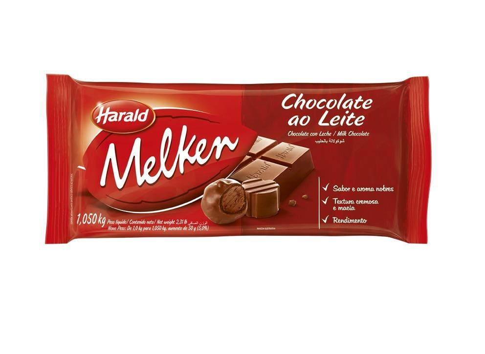 CHOCOLATE AO LEITE BARRA MELKEN HARALD 1,050 KG