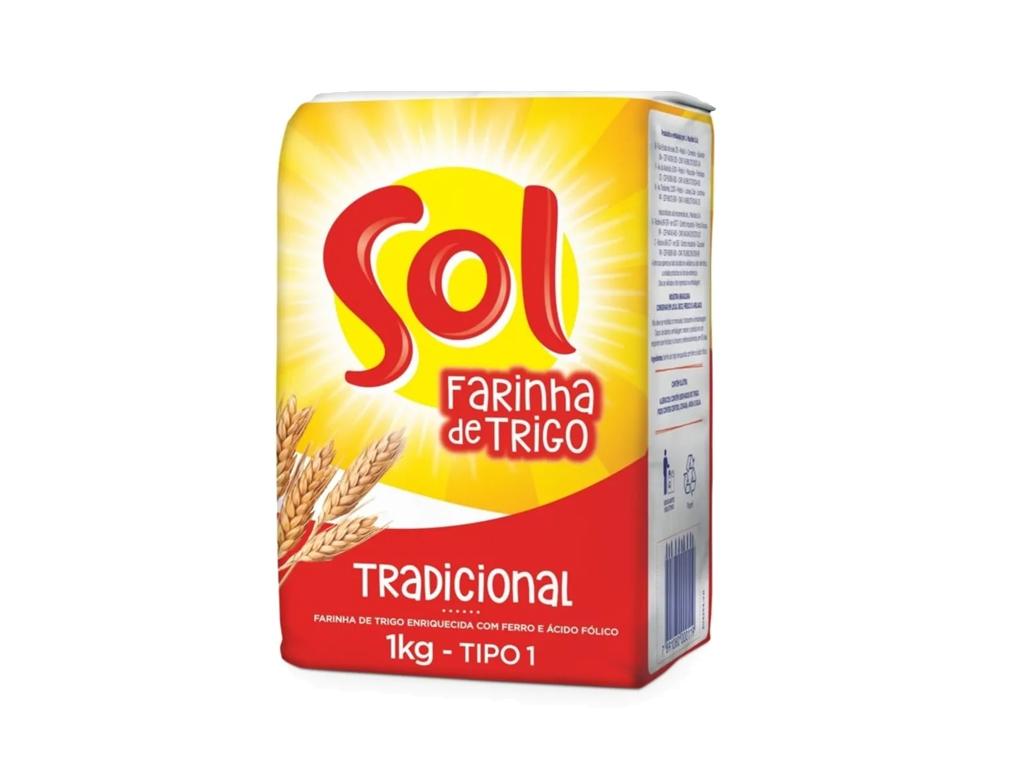 FARINHA DE TRIGO PEQUENA PEQUENA SOL 1 KG